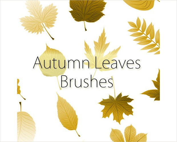 pleasant fall leaves brushes