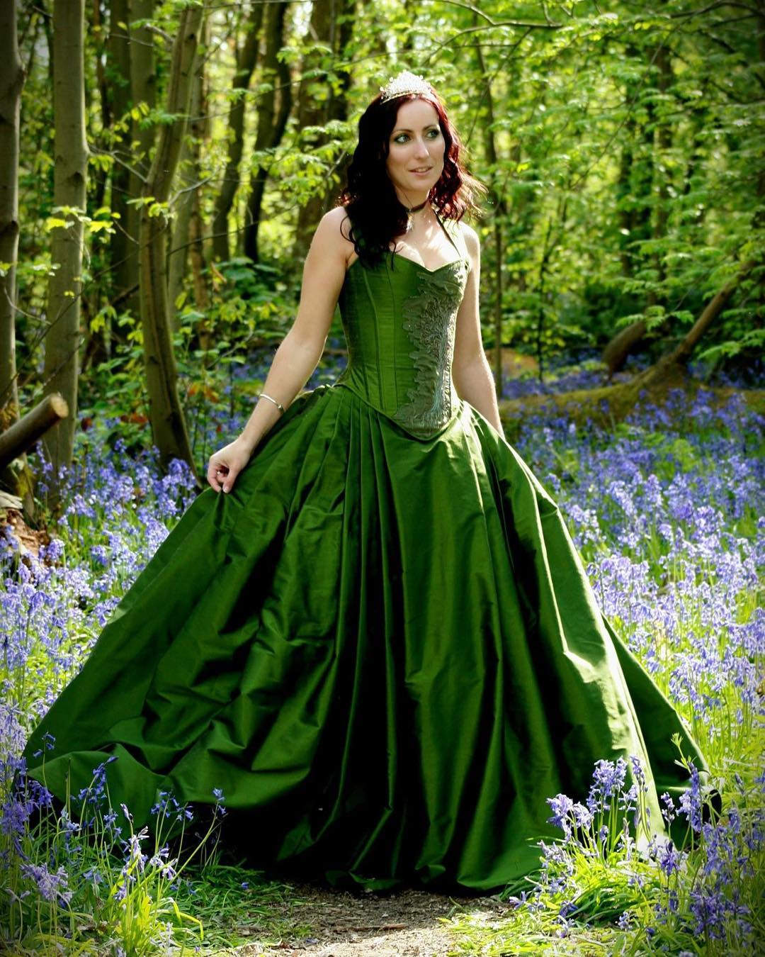 26beautiful fantasy wedding dresses design trends premium psd green wedding dress junglespirit Image collections
