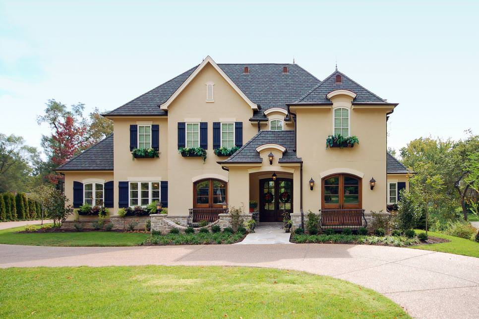 grand french country exterior design