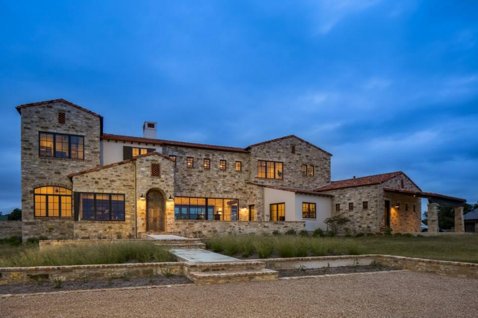 contemporary italian country farmhouse exterior