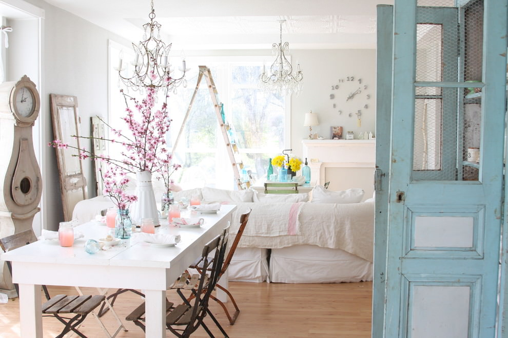 25 shabby chic dining room designs decorating ideas for Decoration jardin shabby