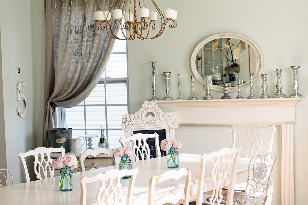 25 shabby chic dining room designs decorating ideas for Eclectic dining room design ideas