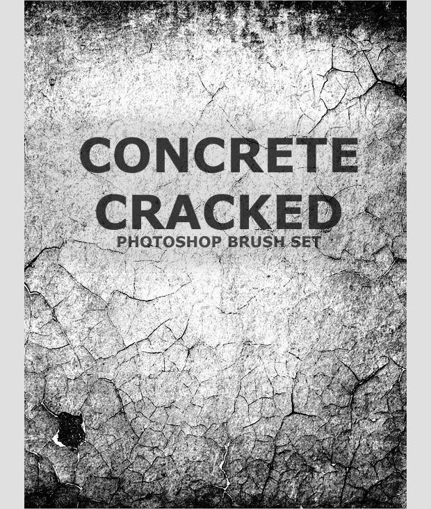 High Resolution Concrete Photoshop Brush Set