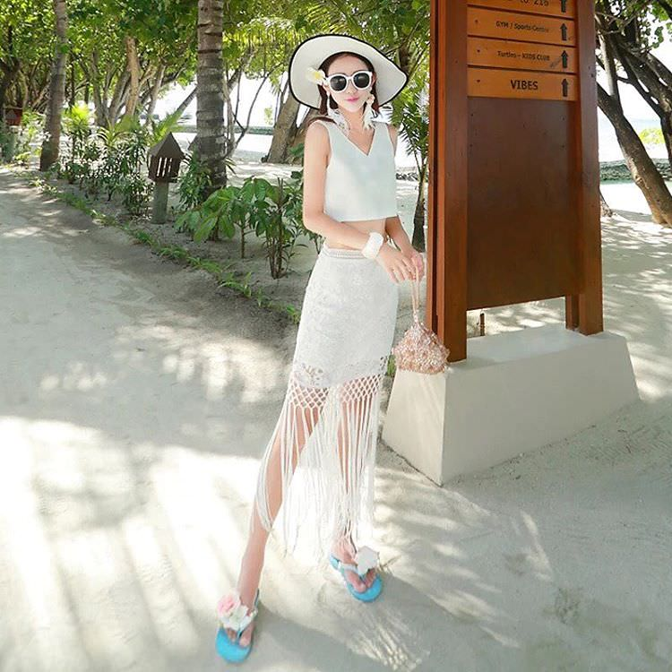 White Beach Dress.