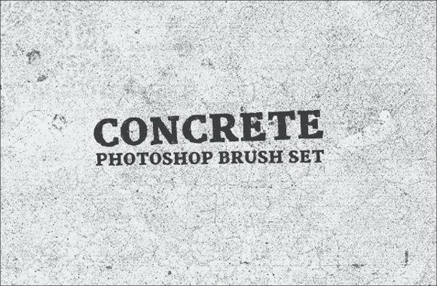 New Concrete Photoshop Brush Set