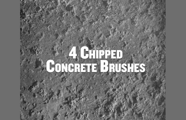 chipped concrete brushes