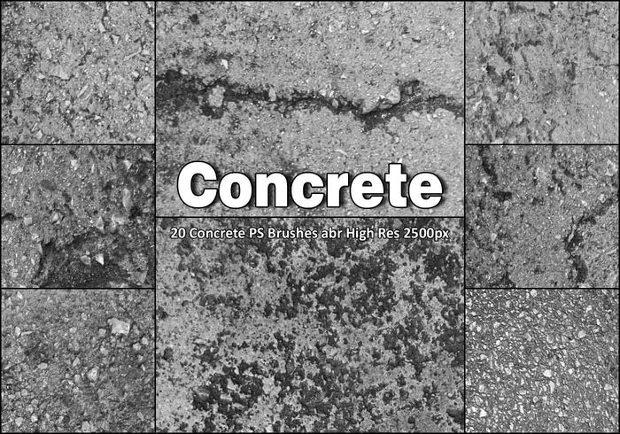 Impressive Concrete Photoshop brushes