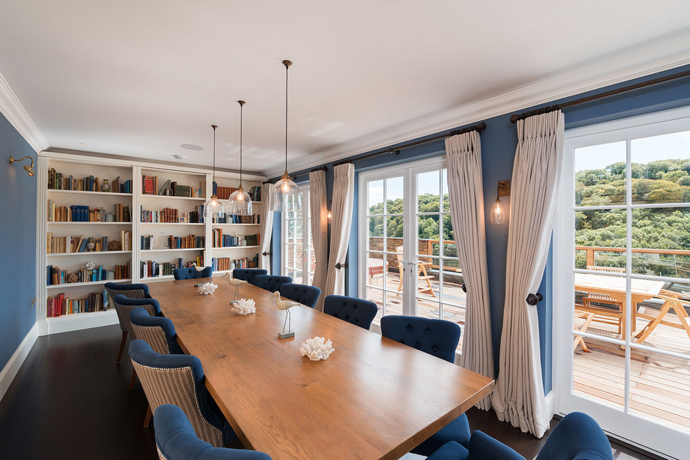 awesome blue dining room design