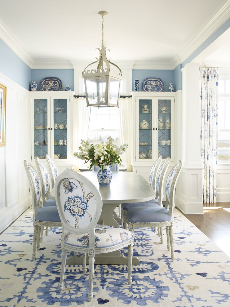 ravishing blue dining room design