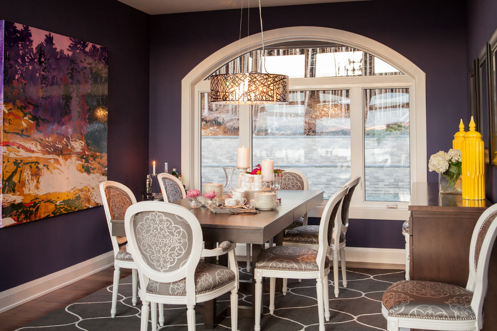 Beautiful Purple Dining Room