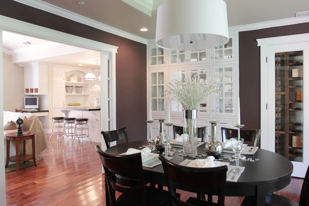 Dark Purple Dining Room