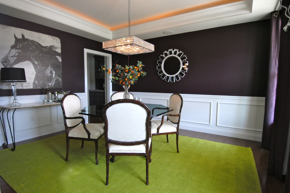 Dusky Purple Dining Room