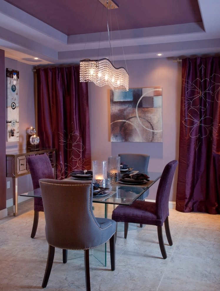 Small Purple Dining Room