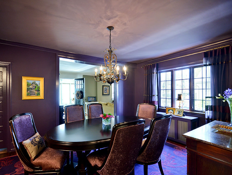 Solid Purple Dining Room
