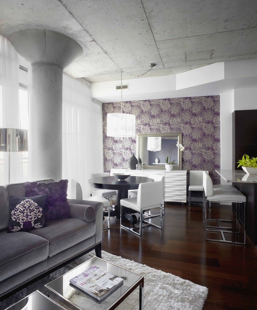 23 purple dining room designs decorating ideas design for Purple living room designs
