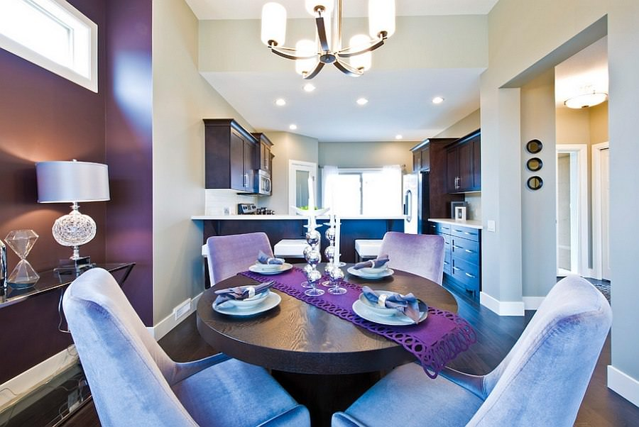 Gorgerous Purple Dining Room