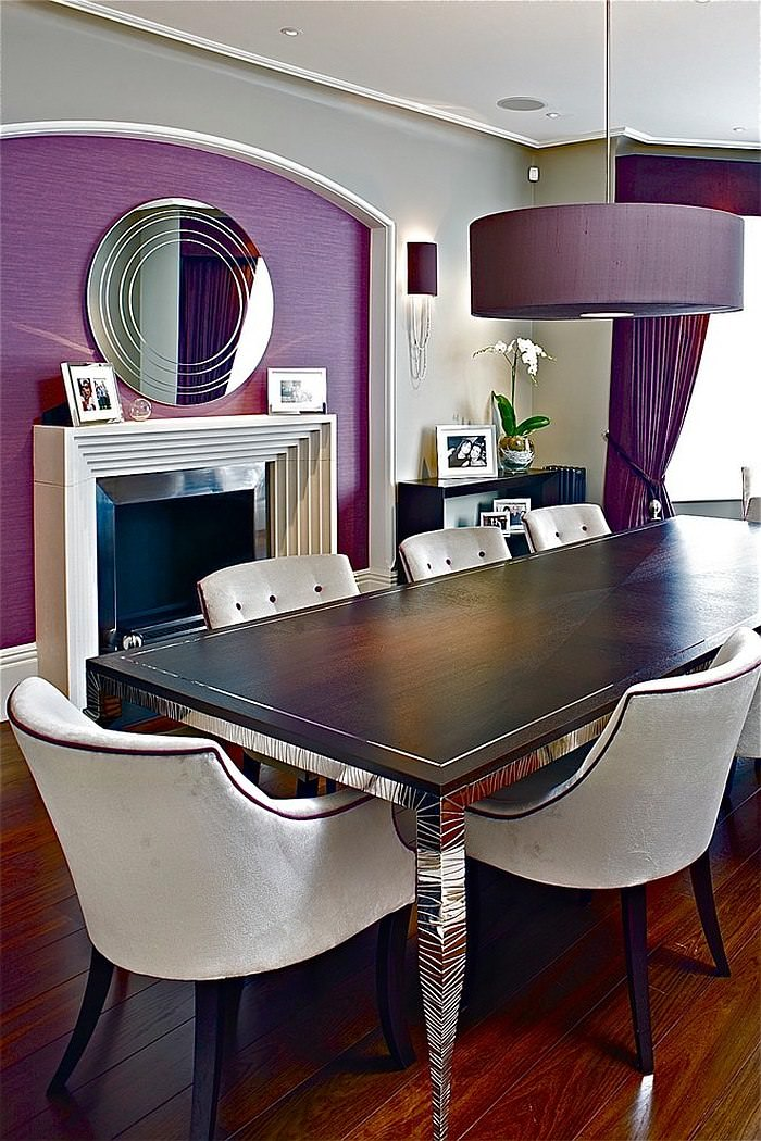 Cool Purple Dining Room