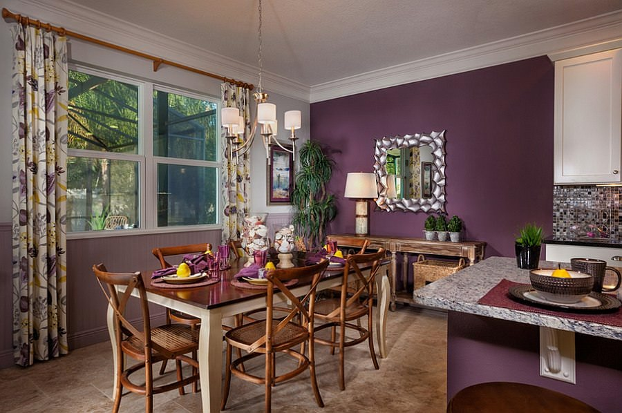 Cheerful Purple Dining Room