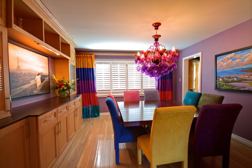 Amazing Purple Dining Room