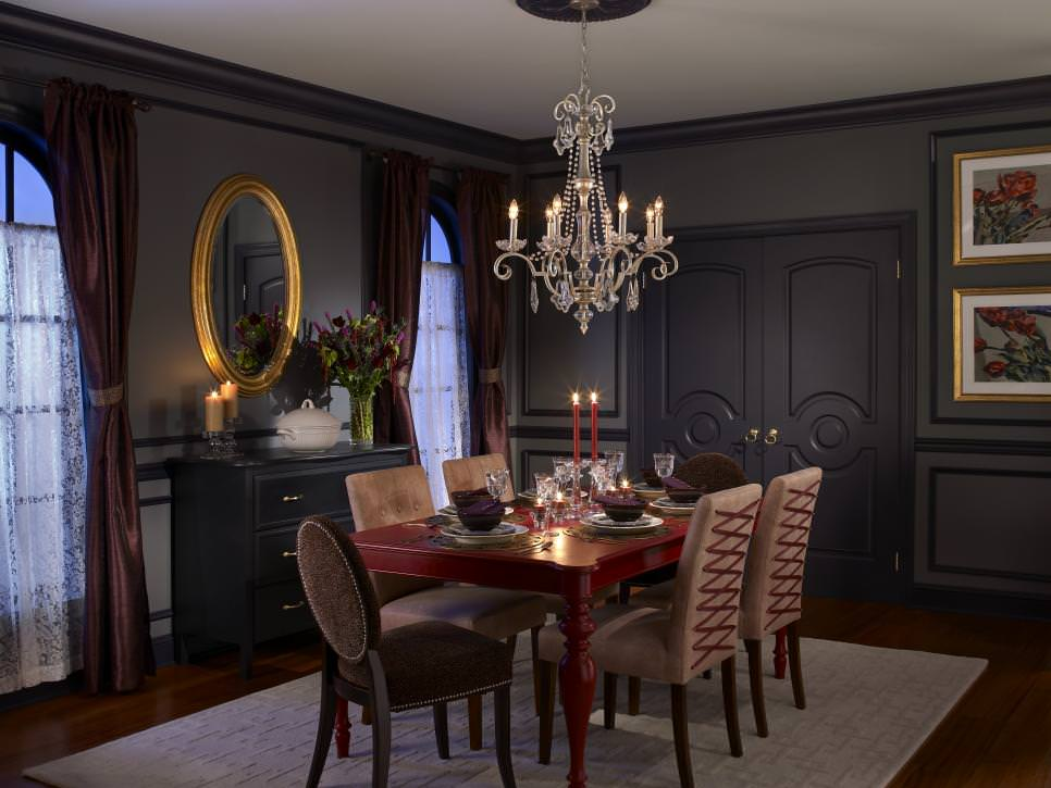 Gray Sophisticated Dining Room design