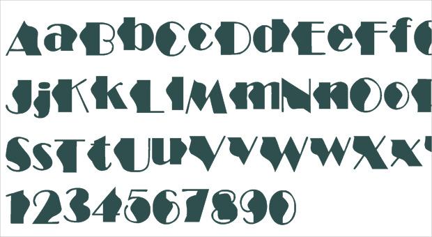 structure wave font