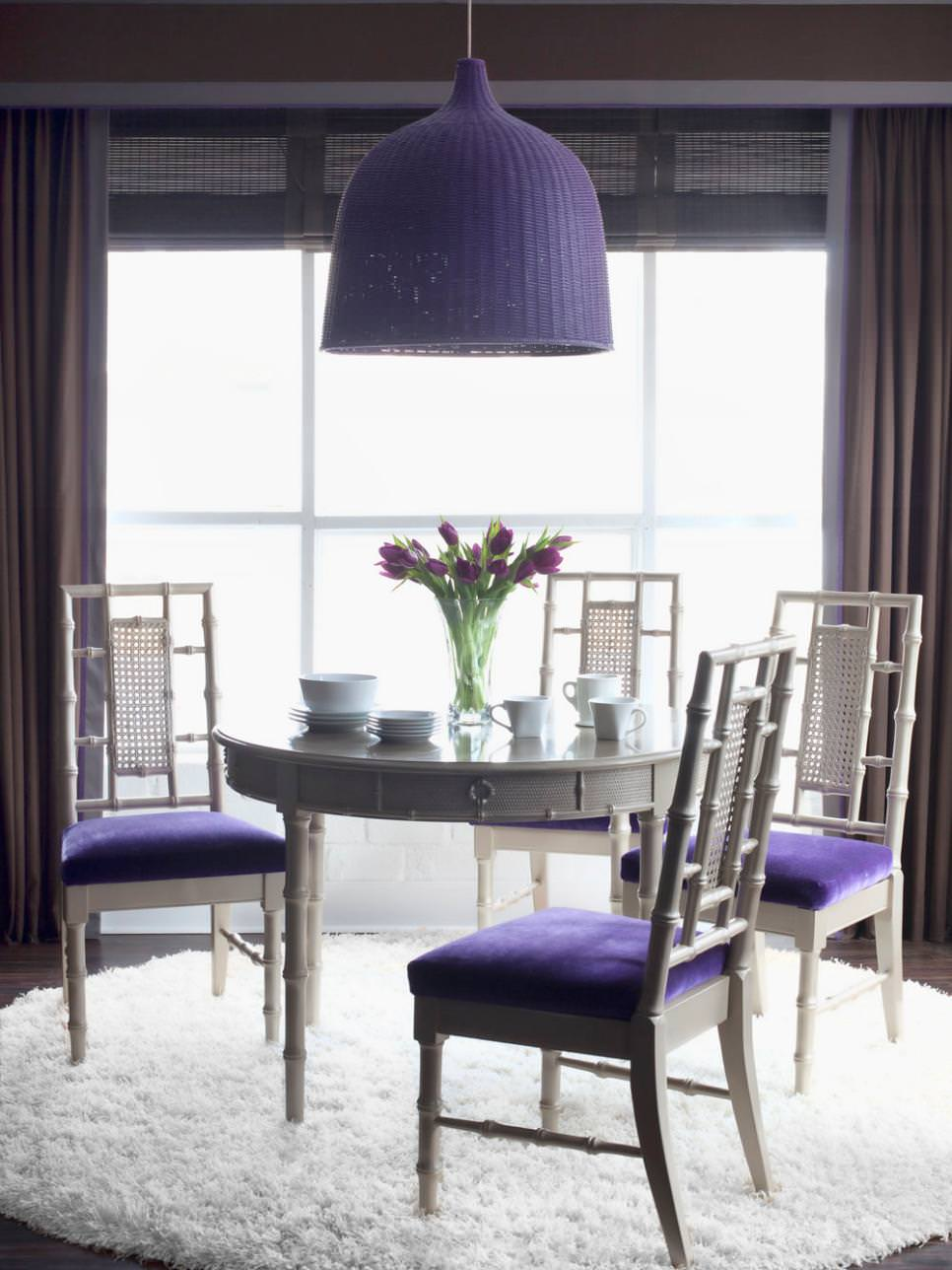 Chic Purple Dining Room Design