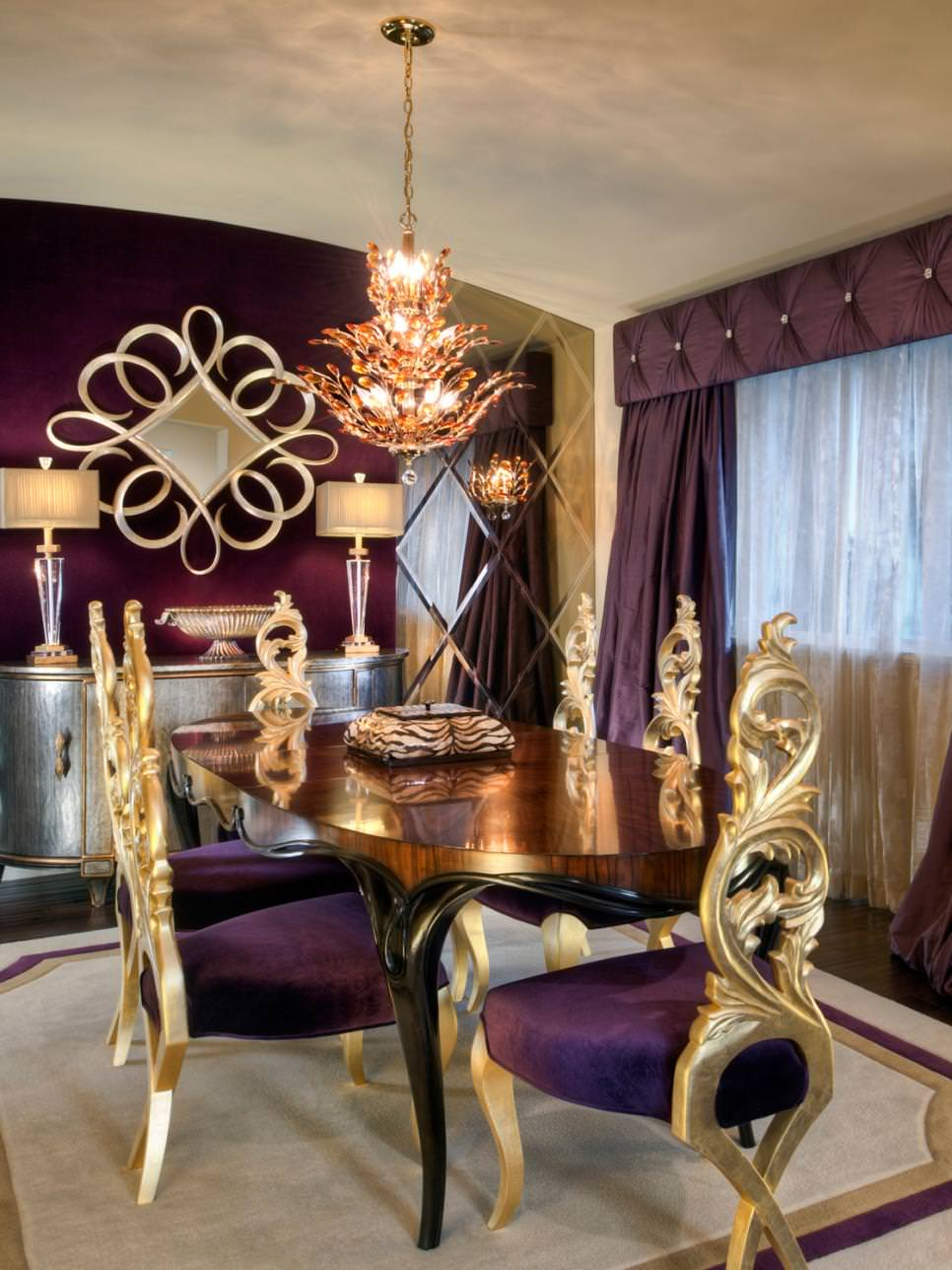 Purple dining room - Royal Purple Dining Room Design