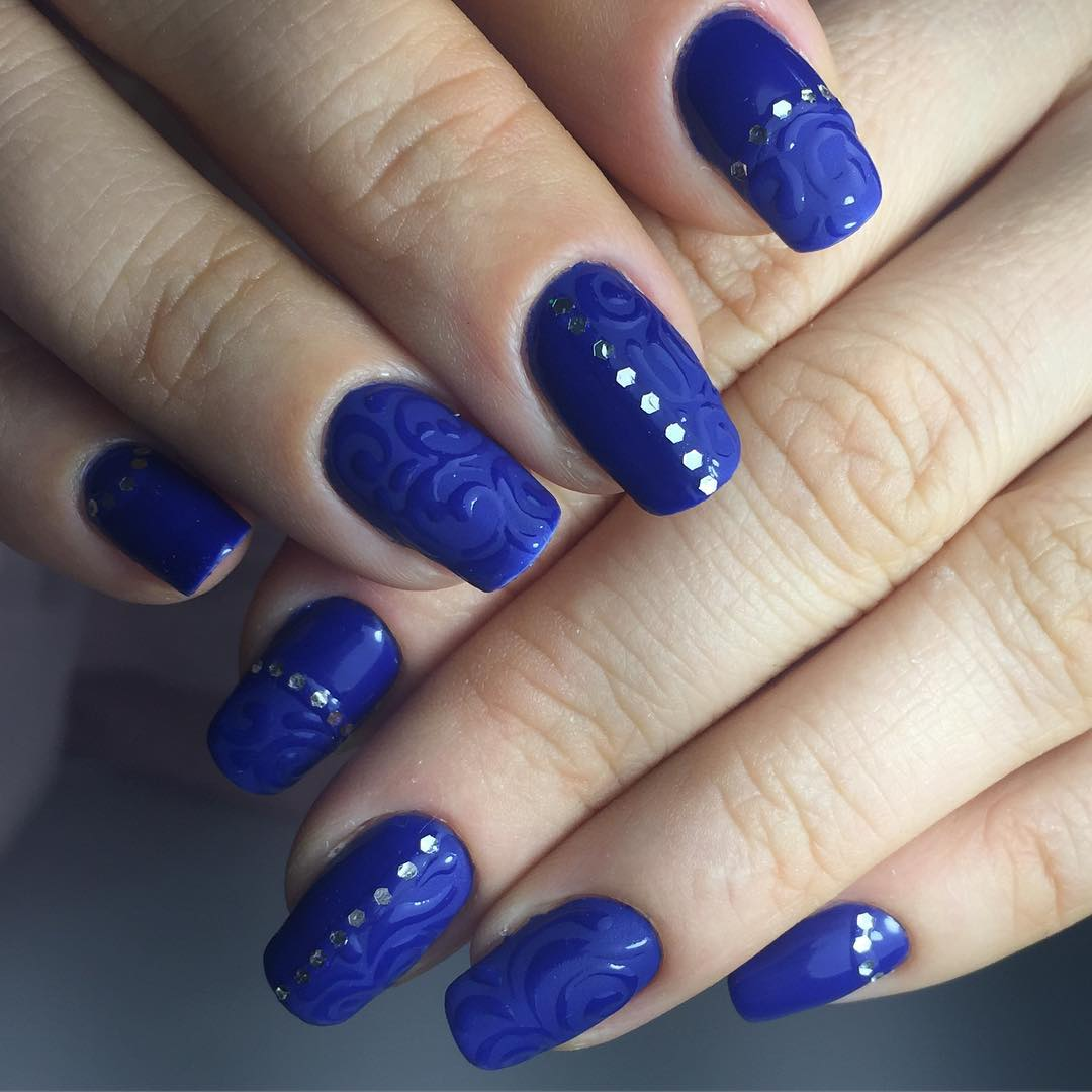 25 dark blue nail art designs ideas design trends premium beautiful dark blue nail designs prinsesfo Choice Image