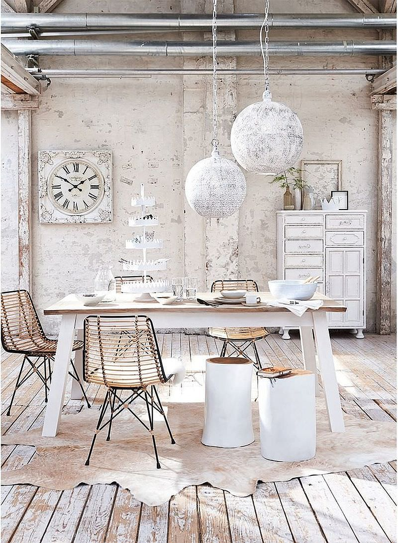 25+ Shabby Chic Dining Room Designs, Decorating Ideas ...