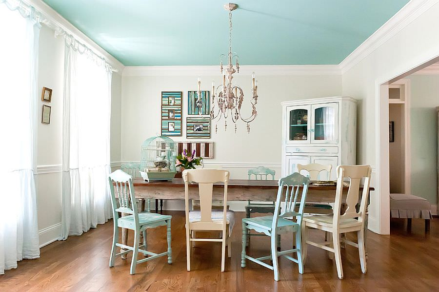 charming shabby chic dining room
