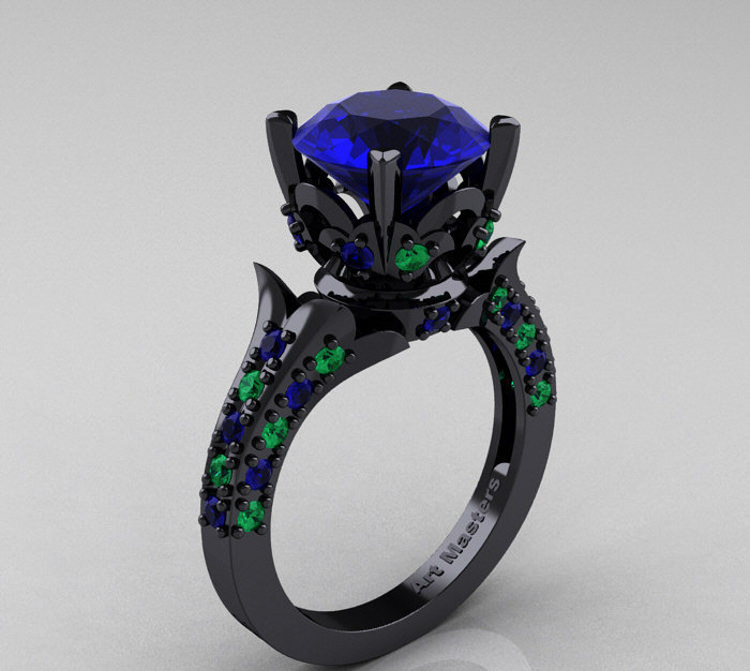 Colorful Sapphire Ring.