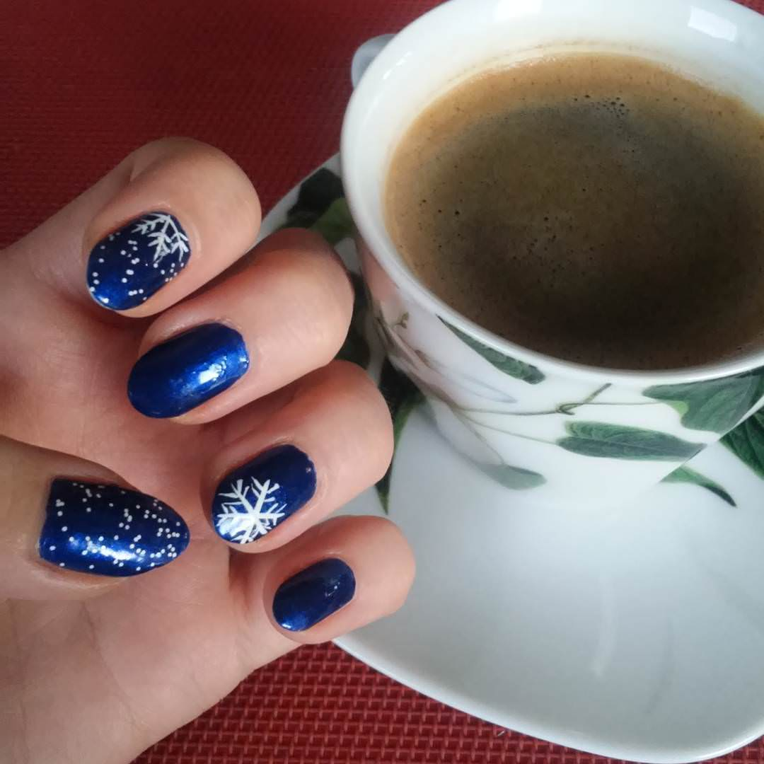 Snow Dark Blue Nai Design