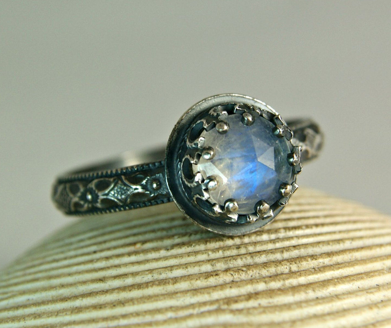 Moonstone Blue Ring
