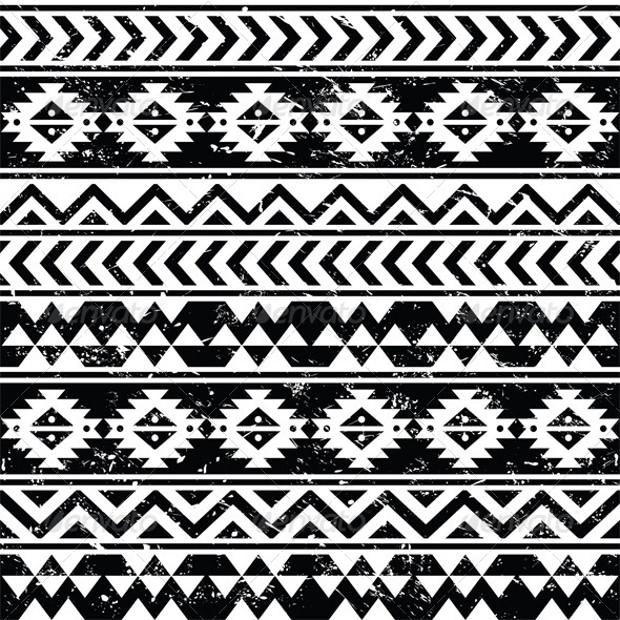 Trible Seamless Grunge Pattern