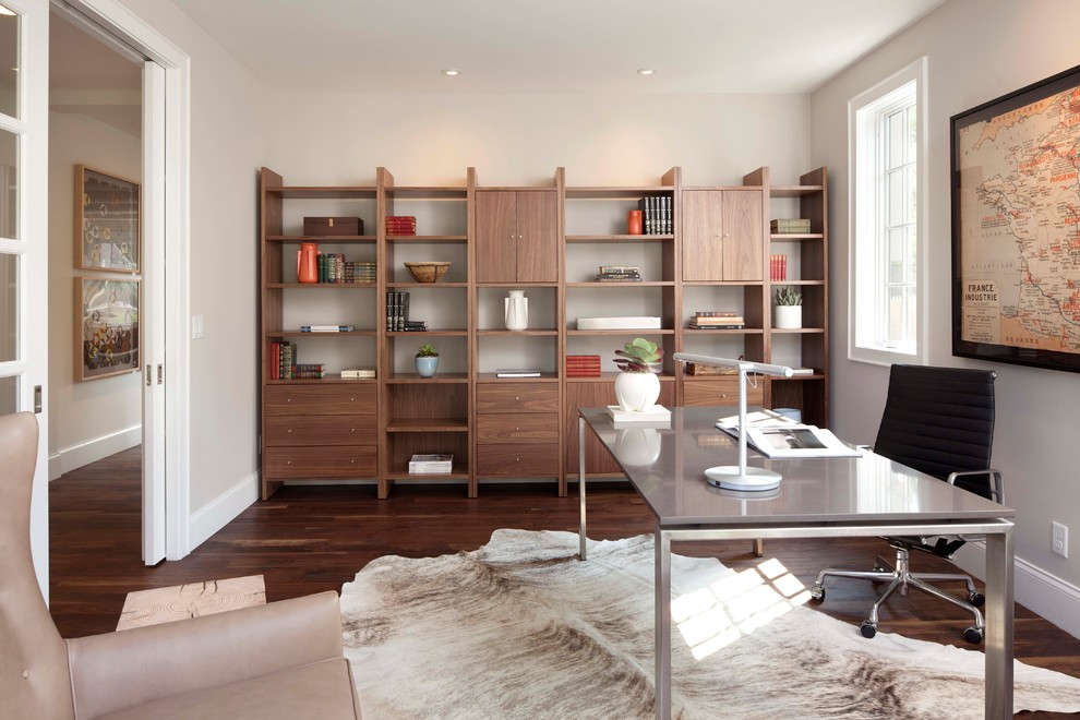 Contemporary Home Office In Minneapolis