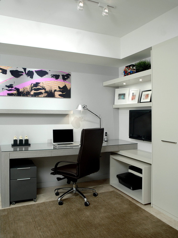 Awesome Gray Home Office Design