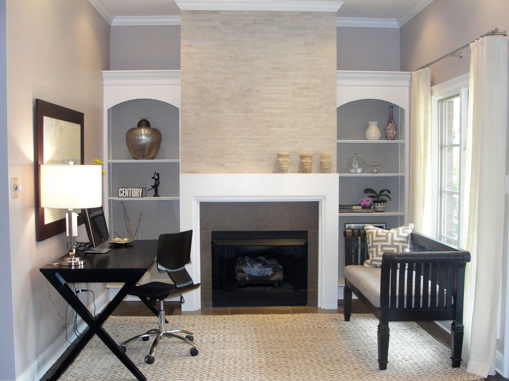 21+ Contemporary Gray Home Office Designs , Decorating