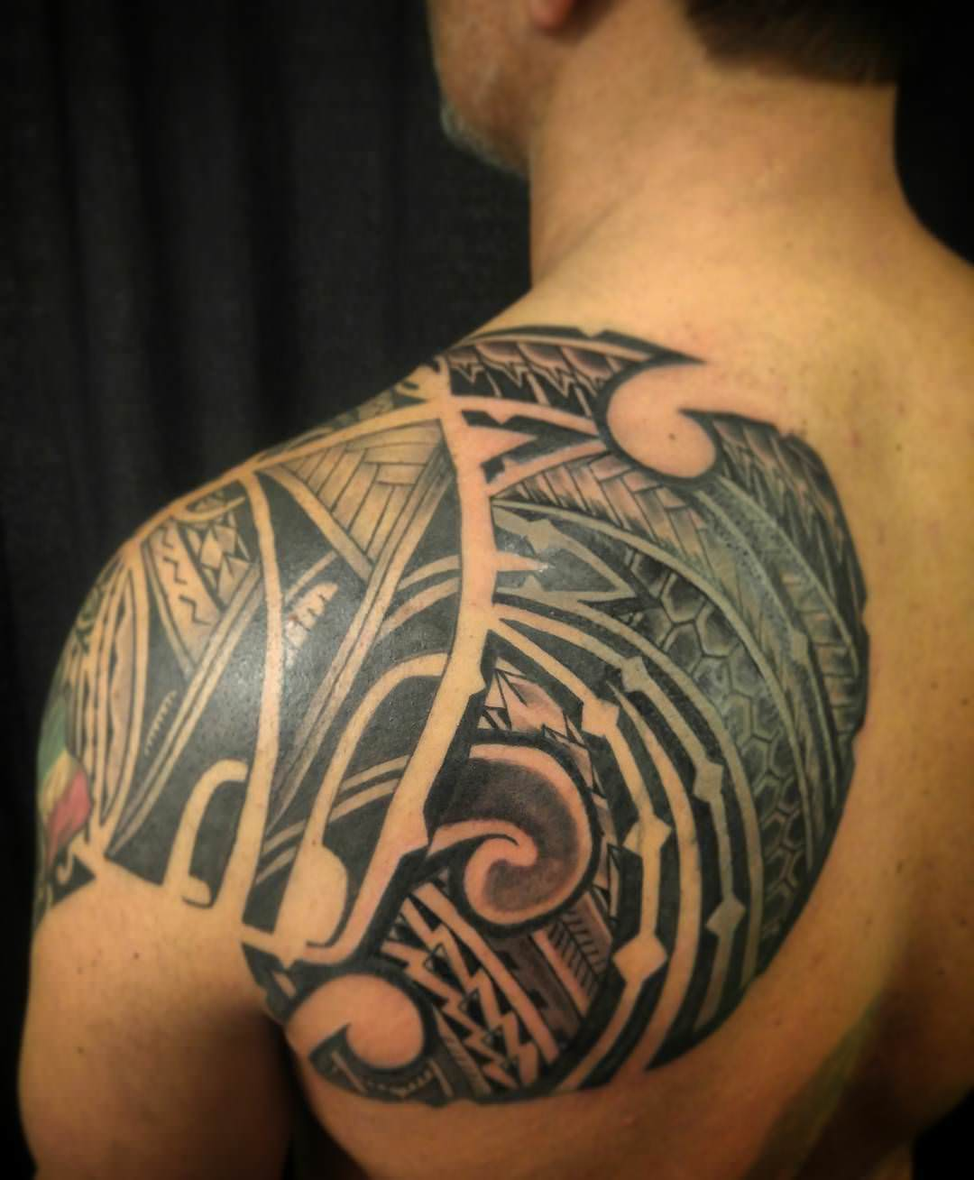 24 Tribal Shoulder Tattoo Designs Ideas