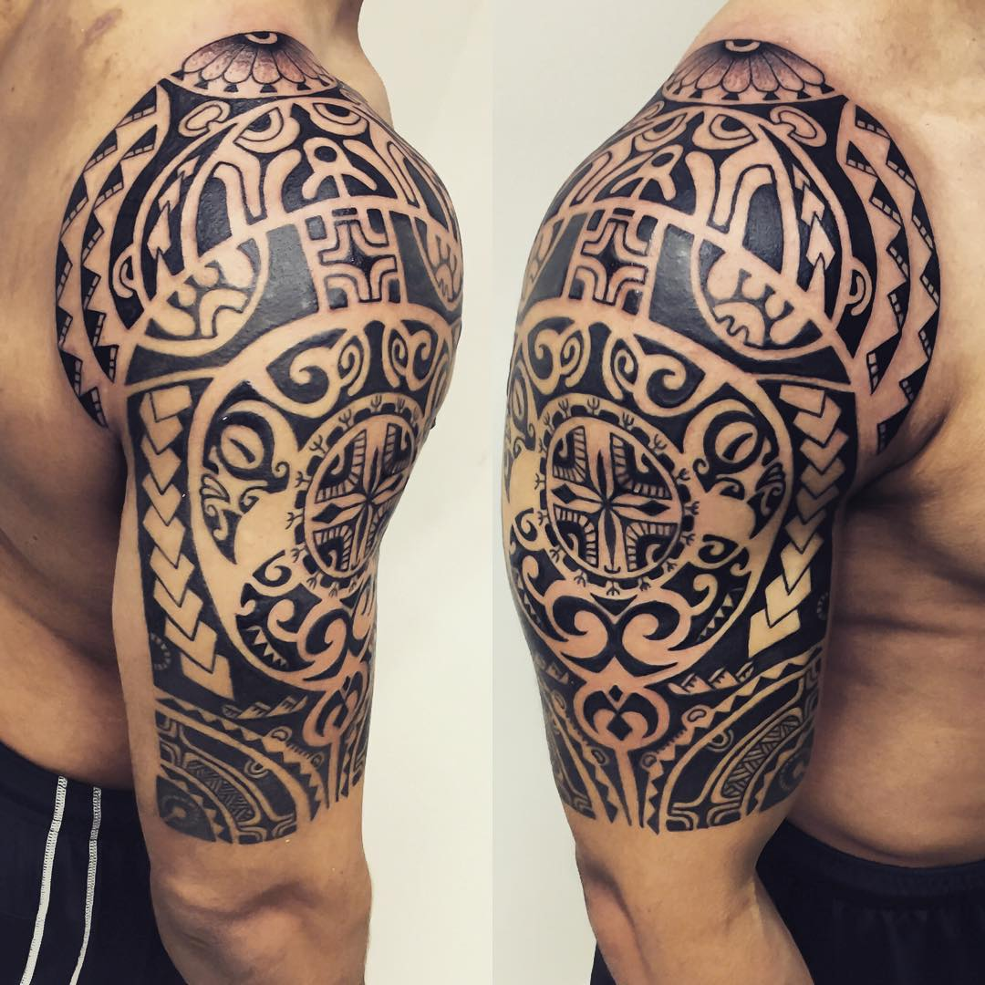 24+ Tribal Shoulder Tattoo Designs, Ideas | Design Trends ...