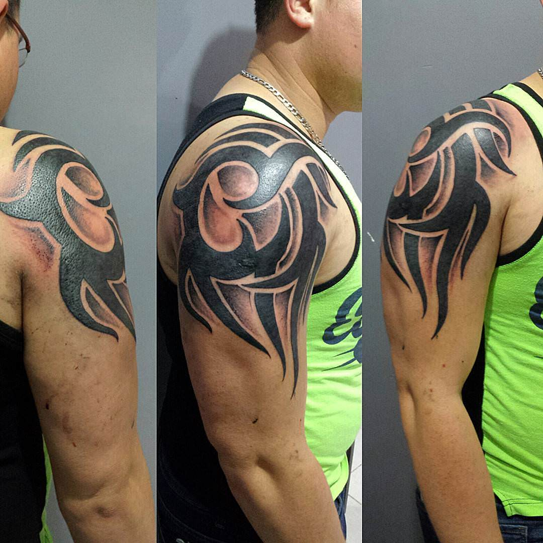stylish tattoo of tribal