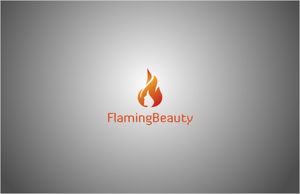 flaming beauty logo design