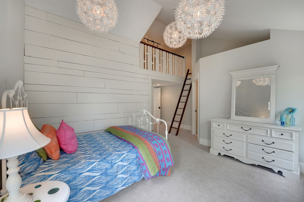 transitional kids room lighting design