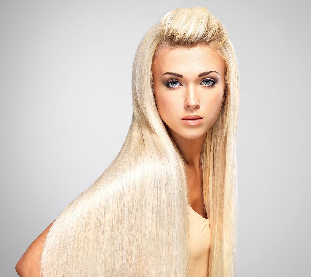 White Smooth Hair.