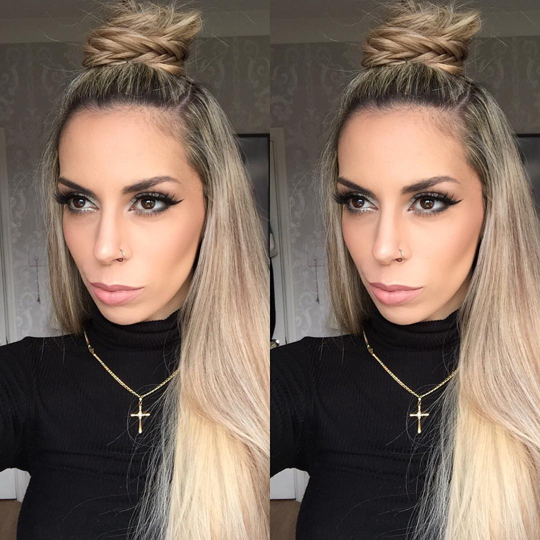 Medium Brown Variety Hairstyle