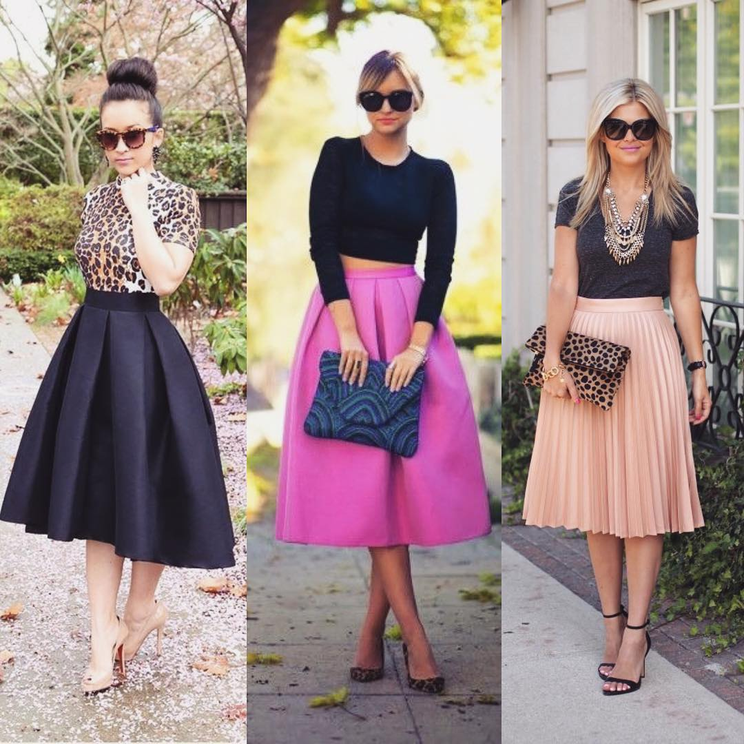 Collection Of Midi Skirts