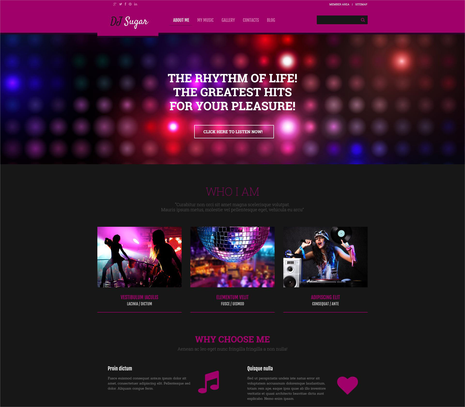 DJ Music Responsive WordPress Theme - $75