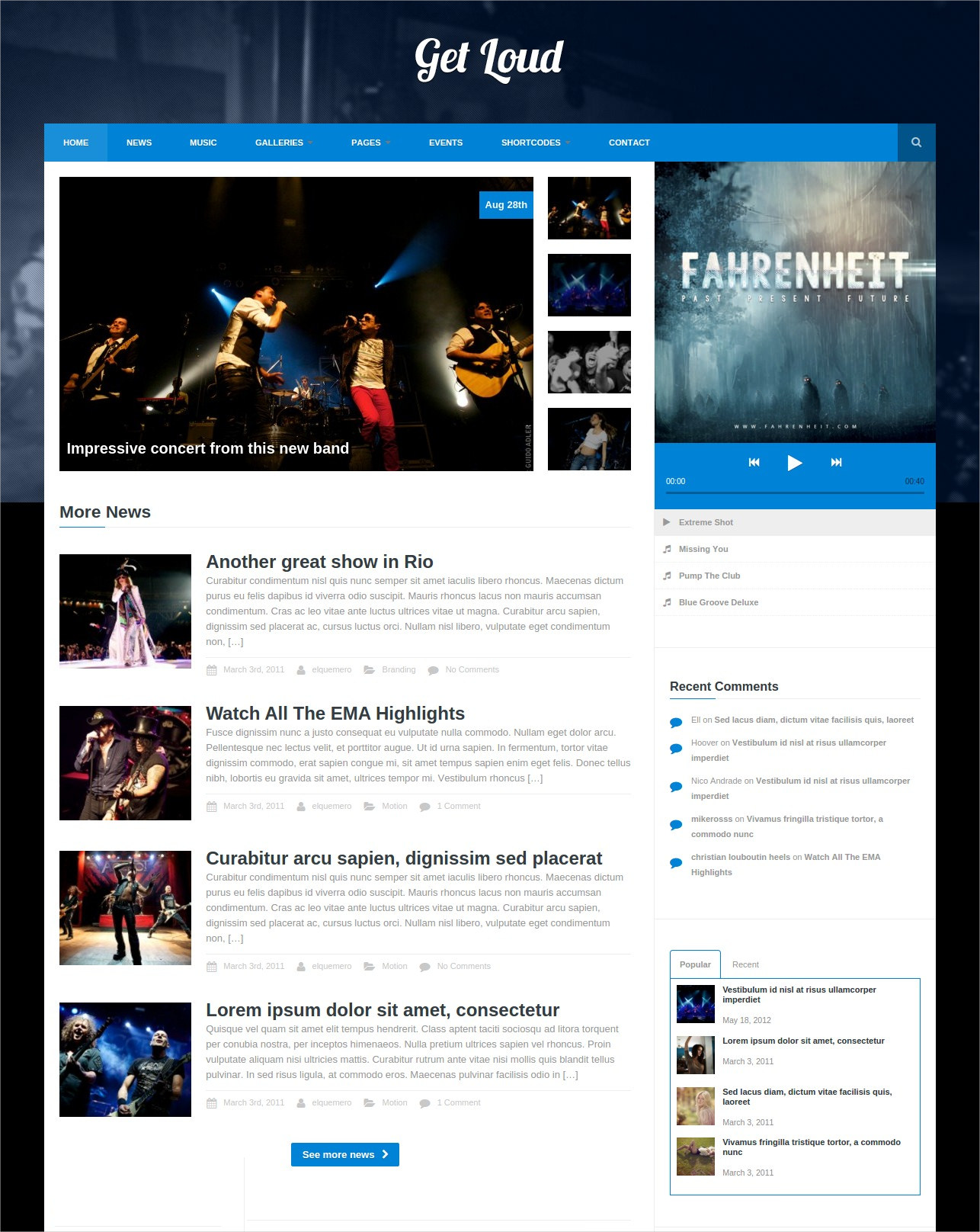 Get Loud Music WordPress Theme - 39