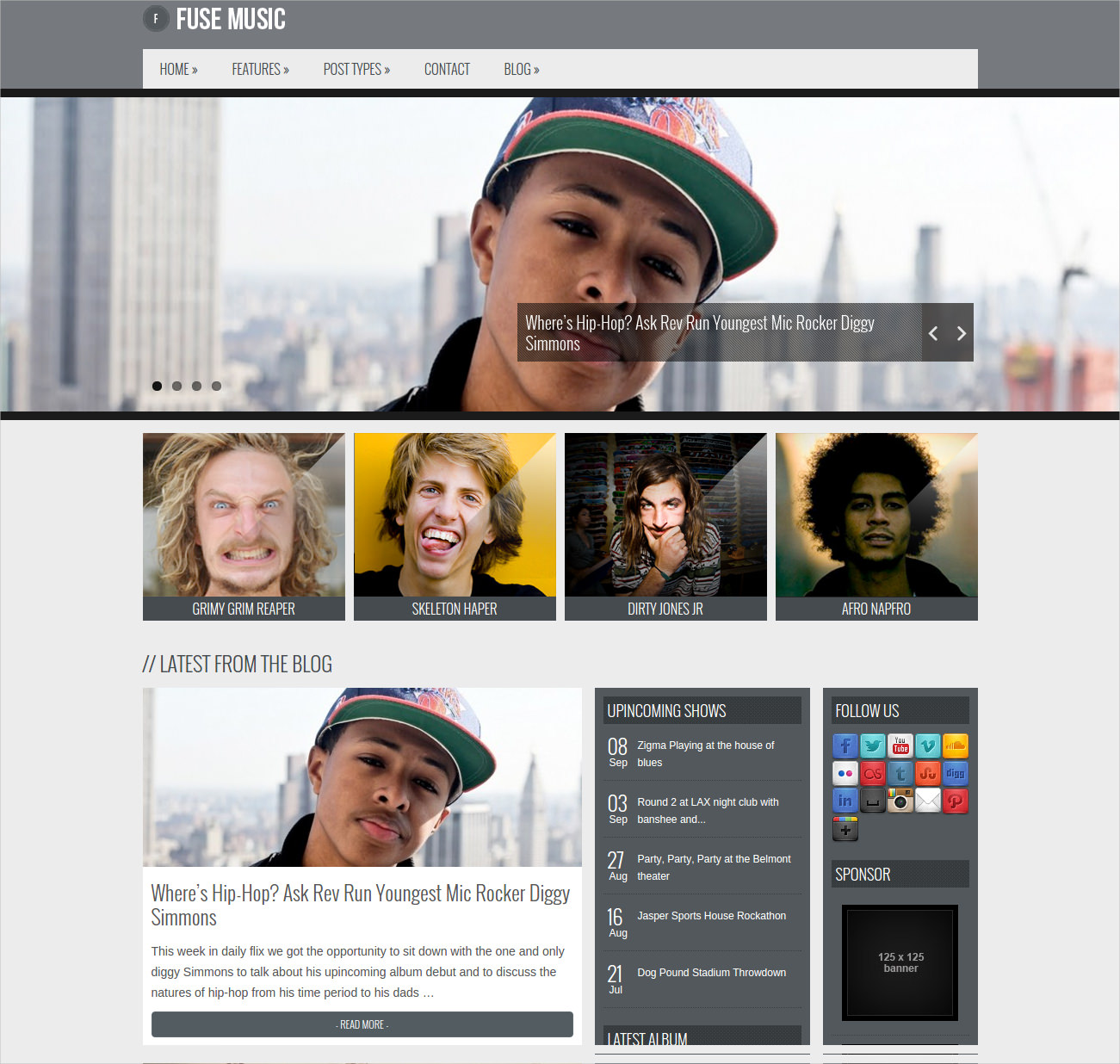 Fuse WordPress Music Theme - $49