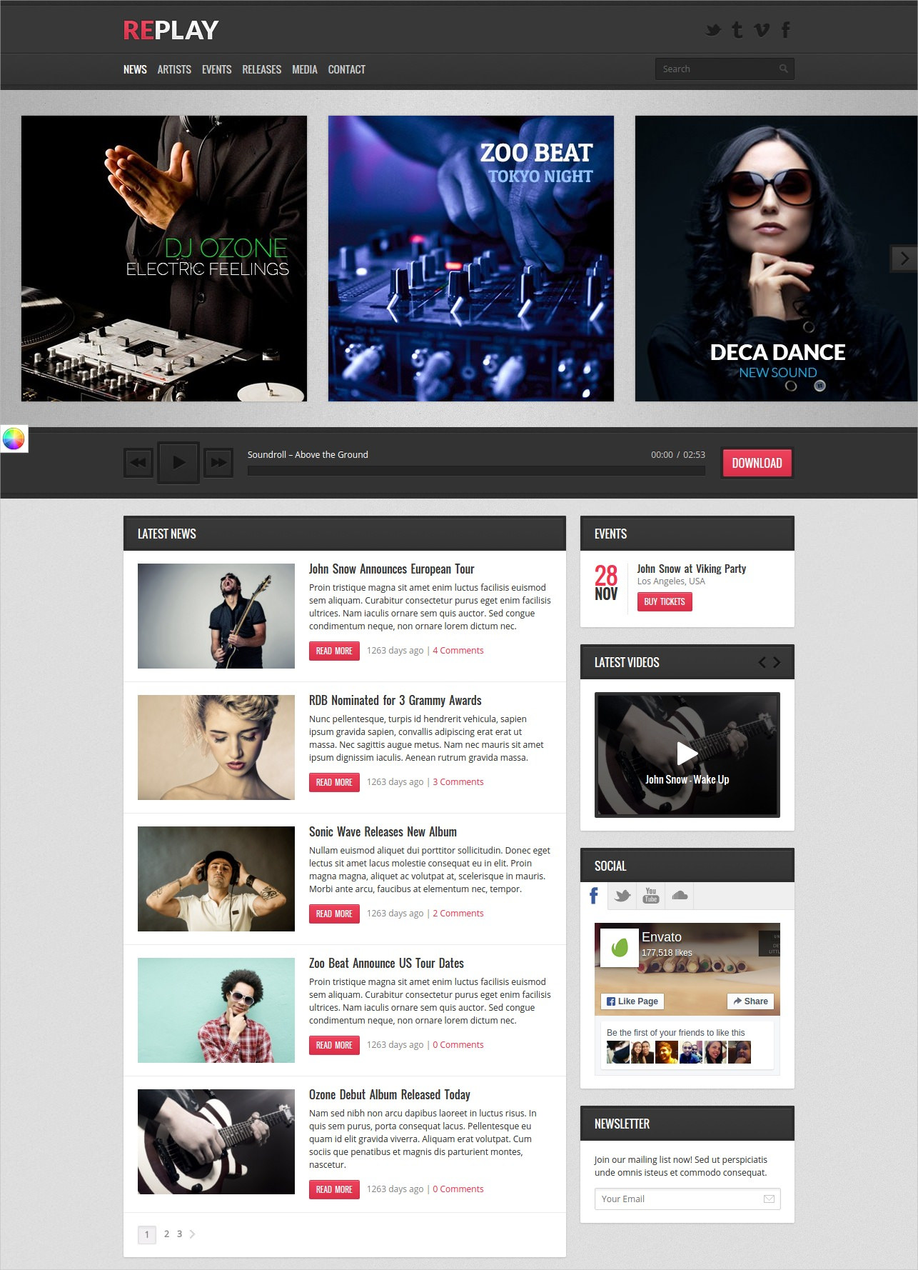 Perfect WP Theme for Music Business - $49