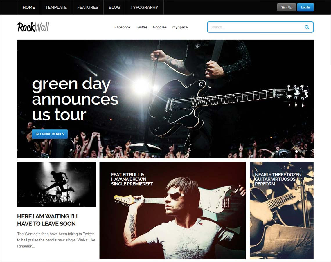 RockWall Music WordPress Theme - $39